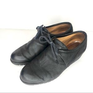 Beautifeel wedge loafers in black lace up size 37